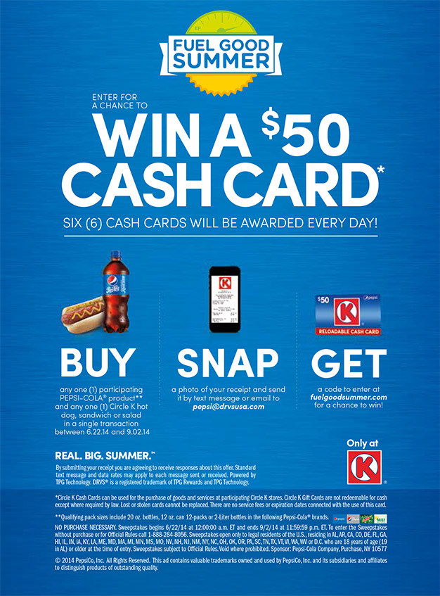 pepsi fuel good summer program - Www Circlek Com Rewards Card Registration