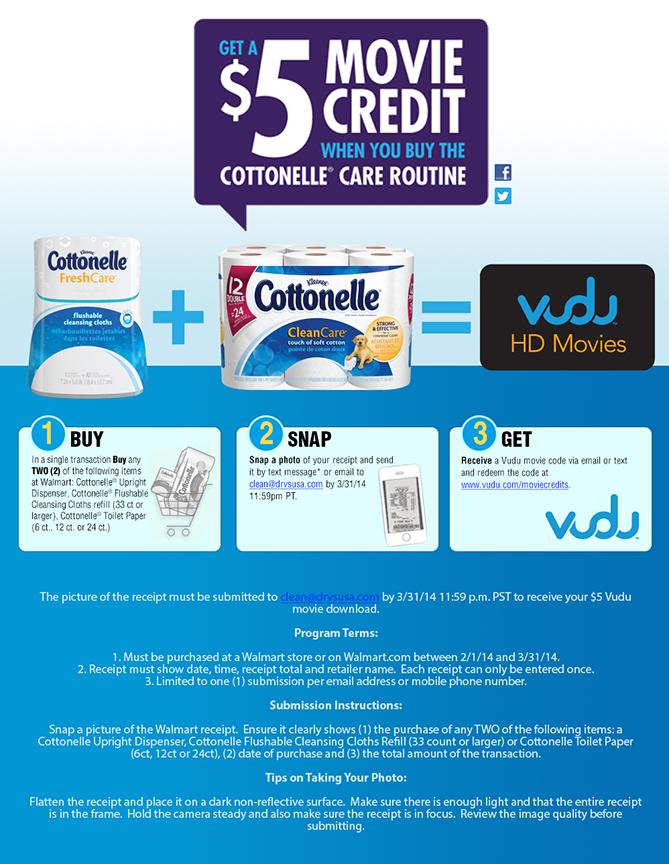 Cottonelle -Vudu Program – TPG Rewards